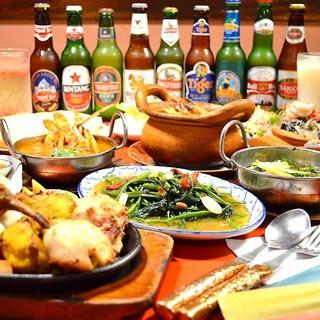 本格アジアン料理のリーズナブルなコース!