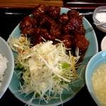 大陸食堂 - 『黒酢の酢豚 定食』¥850-