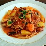 カーサ・ベリーニ - 瀬戸内たこと新じゃが芋のトマトソース スパゲティ