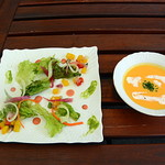 カーサ・ベリーニ - 有機野菜の前菜とスープ