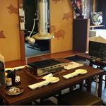 豊田本町ホルモンセンター総本家 - テーブル席、吊るし換気口