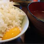 豊田本町ホルモンセンター総本家 - 平日ランチ:980yen TKG食べ放題!スープお変わり自由