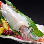 海の花 - イカの姿造り