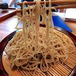 Sobanomiikkanjin - 友人に補助をしてもらっての麺リフト!