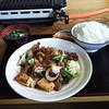 くるまや食堂 - 料理写真:ホルモン炒め定食1050円