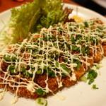 鶏創作料理 成松 - 地どりフライのタレマヨがけ