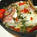 レストランバー レンリ - 真鯛のアタマパッツァ笑