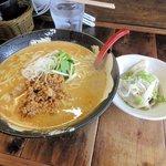担々麺屋 炎 - 赤担々麺(大盛り)+水餃子2016.06.28