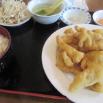 コウシン - 豚の天ぷらセット
