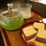 寧楽菓子司 中西与三郎 - わらび餅・大和茶(600円)