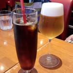 52868558 - 生ビール(小)(380円)&パスタ付きアイスコーヒー