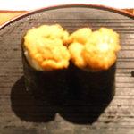 立ち喰い寿司とビオワイン ふく  - ウニ、ナチュラルな甘さでした