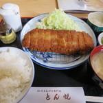 とん悦 - ヒレカツ定食