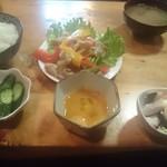 さかい - 日替りランチの一つ、パプリカ豚肉炒め@500円