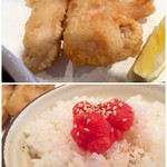 水道橋酒場 多喜乃や - 鶏天と明太子ご飯