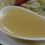 地産他消いかきん茶屋 - 素朴な塩スープは、きのこ類の旨味感じる?