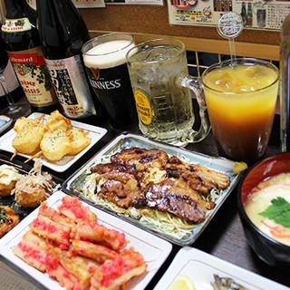 バラエティー豊かなお料理とお酒