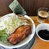 Mameya - 料理写真:背脂中華こってり太麺(特盛り・玉ネギトッピング・岩海苔トッピング)(2016年6月)
