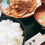 レストラン 若生軒 - 生姜焼き定食。