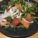 52893186 - 春菊と自家製サーモンマリネのサラダ