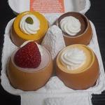 キャトル - ミックスうふプリン(プレーン、イチゴ、カボチャ、チョコレート)