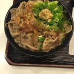 うどん 丸香 - 肉うどん(温) ¥680-
