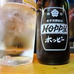 肉の店 鳥吉 - ホッピーセット(ナカの量はこれぐらい)¥350