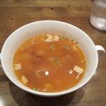 5290087 - ランチの最初はミネストローネスープ・・・ひよこ豆の入った野菜たっぷりのスープです。