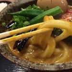 うどん 四方吉 高崎店 - 固い太麺
