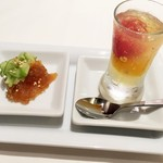 52900692 - 前菜(クラゲの冷製、トマトのジュレ)