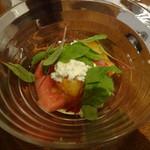52903027 - スイカとカッテージのサラダ/はちみつ生姜風味