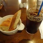 52903031 - パン、アイスコーヒー