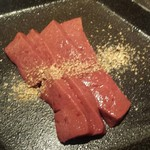 焼肉 虎龍 - 特選レバー(炙り)