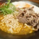 北海道咖喱饂飩 亀 - 北海道カリー饂飩大盛り(ラムしゃぶ