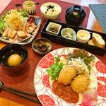 しゃんしゃん 龍 - [ランチ]日本一の龍ヶ崎コロッケ定食