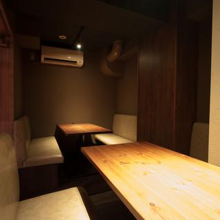 ■接待やデート・会社の宴会にも。個室・半個室完備