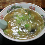 52914646 - ●2016/06/20/MON #147 @あんかけラーメン(塩野菜) ¥650