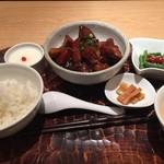 JASMINE憶江南 - 黒酢の酢豚 1200円 ランチセット
