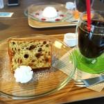 zakka+cafe KICHI. - 黒糖シフォンケーキセット660円!