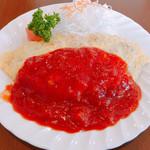 レストラン 若生軒 - H28.6.30、前日に食べログ記事を書いたら やはりまたイタリアンオムライスが食べたくなり訪問。カツカレー大盛りは次回に…