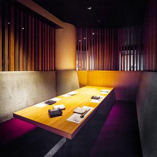 完全個室光と色が魅せる表情異なる