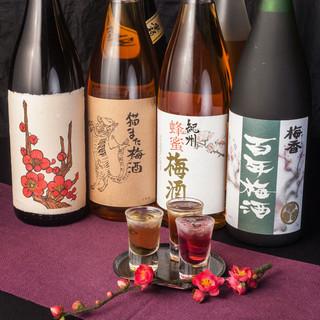 梅酒にこだわる全国各地の銘柄梅酒が楽しめる品揃え