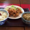 四ッ六庵 - 料理写真:唐揚げランチご飯大盛り