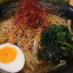 れんげ屋 - 会津肉味噌酢ラージャン麺  780円