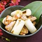 梅咲夜 - 若鶏もも肉と長ネギの黒胡椒焼き