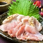 梅咲夜 - 鶏肉の刺身