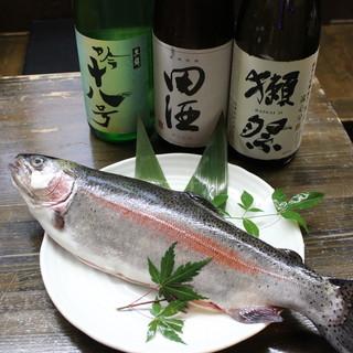 毎日、市場からの厳選した鮮魚