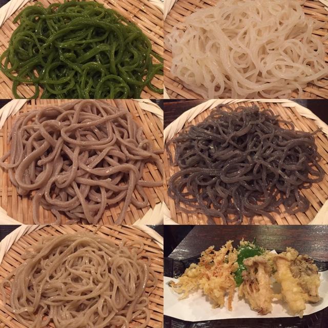 手打ちそば ほさか - 五色もりと野菜天ぷら
