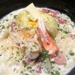 五右衛門  - 料理写真:大地の恵みのチーズクリームスープスパ