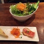 日本橋レオン - タパス3種とサラダ